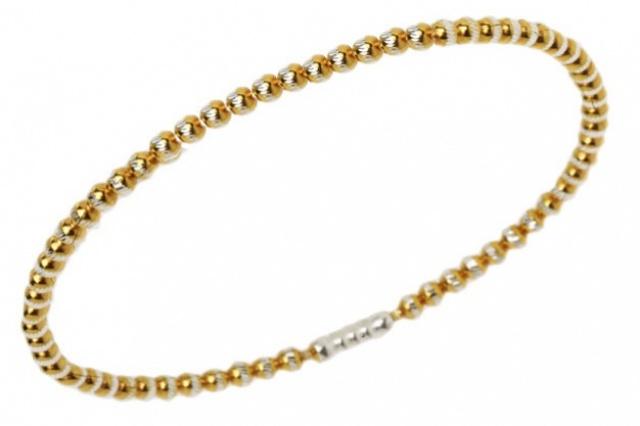 Bracciale da uomo in argento color oro